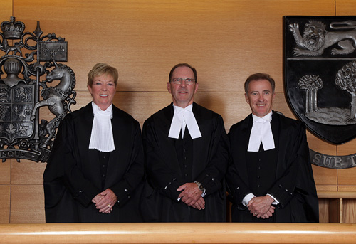L-R: the Honourable Michele M. Murphy, the Honourable David H. Jenkins and the Honourable John K. Mitchell.